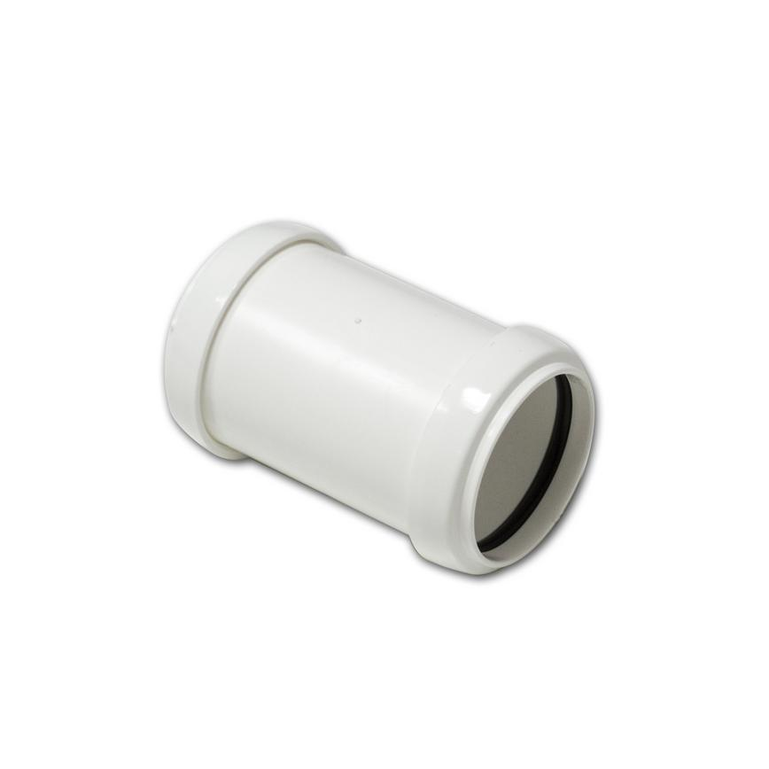FloPlast Polypropylene Push-Fit Straight Coupler