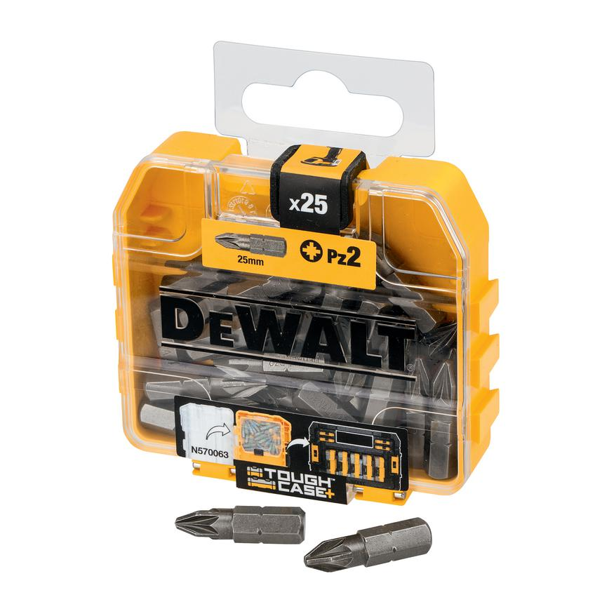 DeWalt PZ2 Steel Pozi Screwdriver Bit Pack of 25