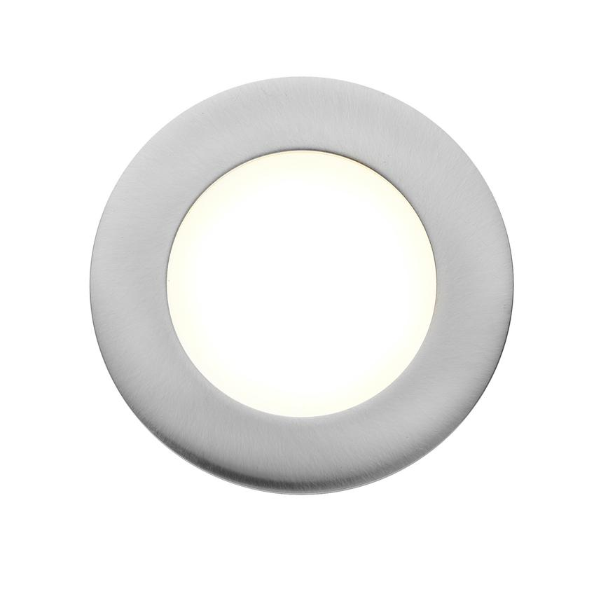 LED2102 Circular under-cabinet LED downlighter in nickel finish