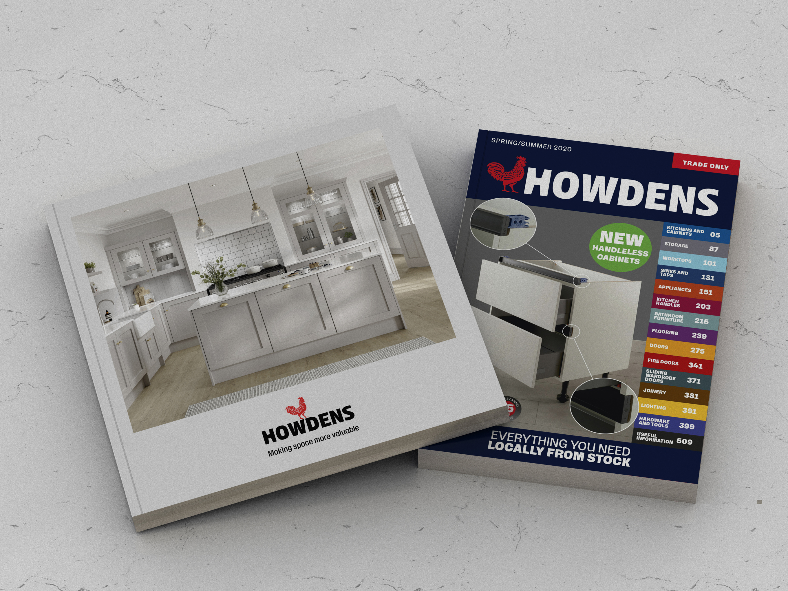 Howdens kitchens brochure and trade book.