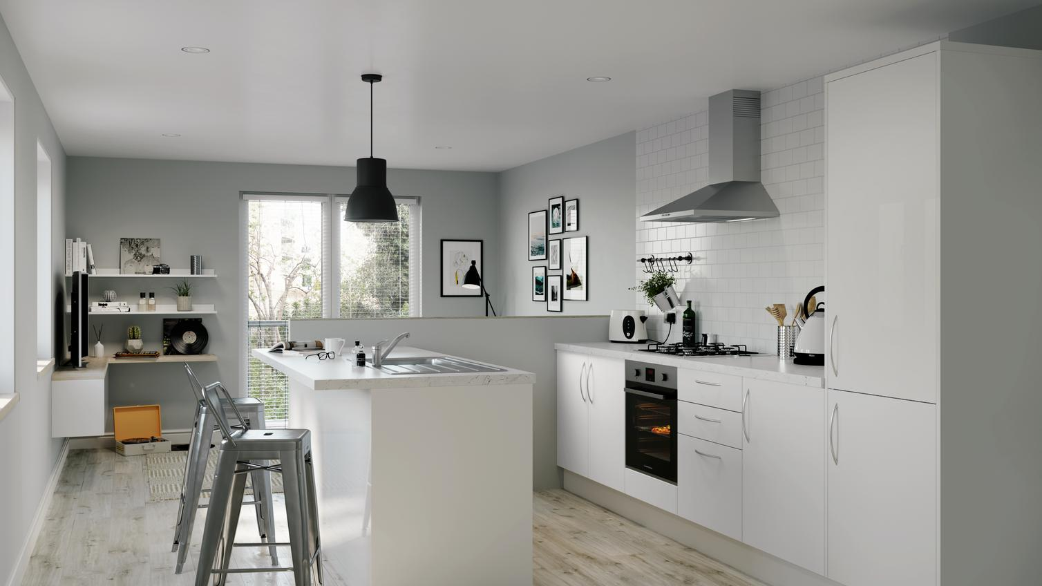 incredible black white kitchen design ideas | Ideas for Small Kitchens | Howdens