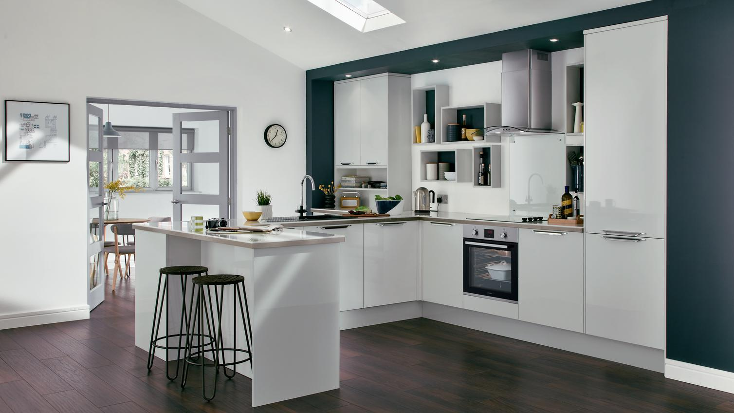 Greenwich Gloss Dove Grey Howdens