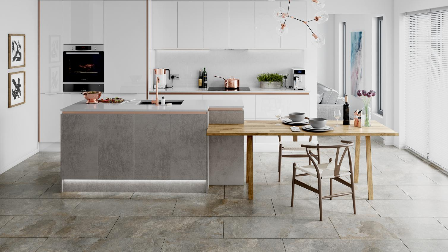 Concrete Effect Kitchen Doors Kitchens Howdens