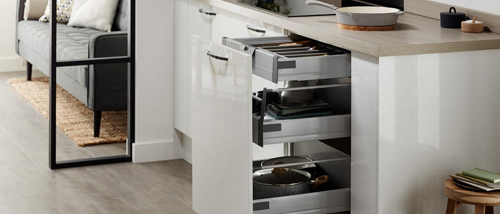 Kitchen Storage Solutions Pull Out Kitchen Storage Howdens Joinery