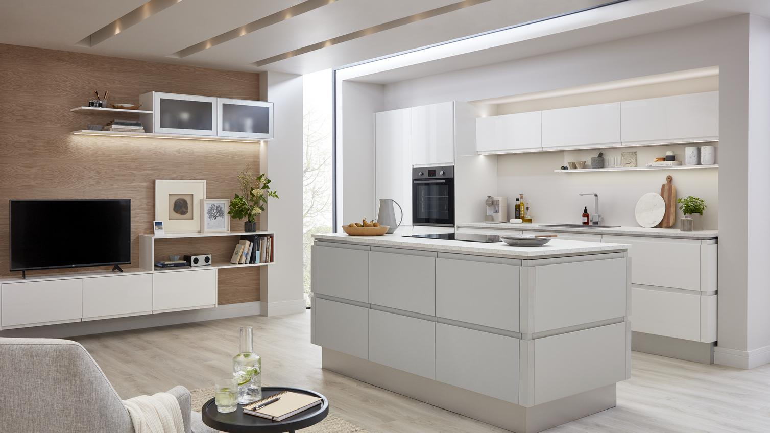open plan kitchen ideas howdens joinery. Black Bedroom Furniture Sets. Home Design Ideas