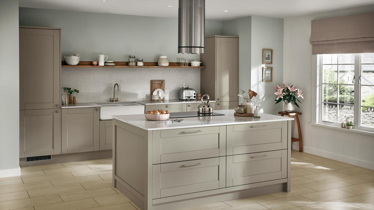 Fairford Sage Green Kitchen Fitted Kitchens Howdens