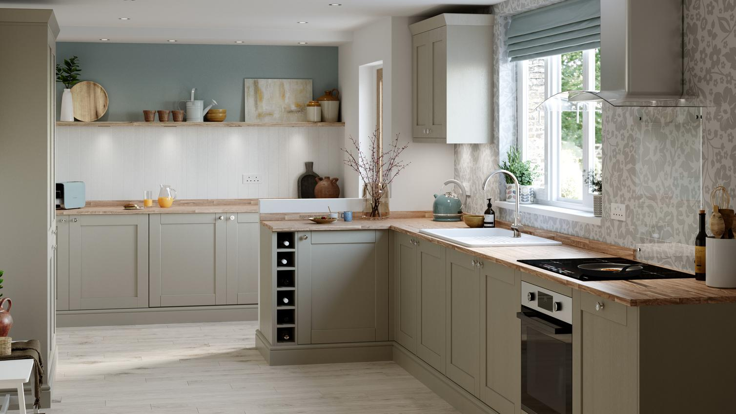 Fairford Pebble Kitchen Fitted Kitchens Howdens
