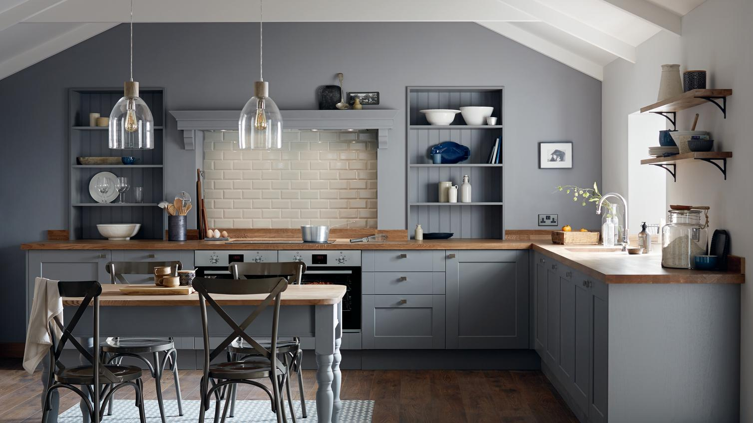 Fairford Slate Grey Kitchen Fitted Kitchens Howdens