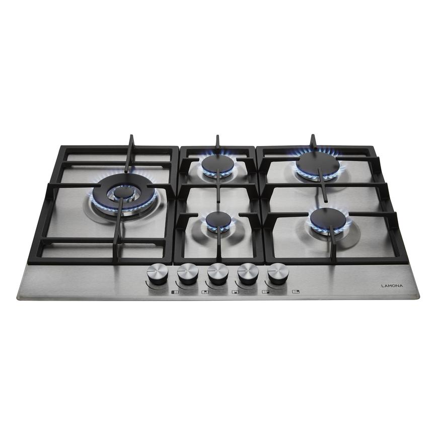 Lamona Professional 5 Burner Gas Hob Stainless Steel