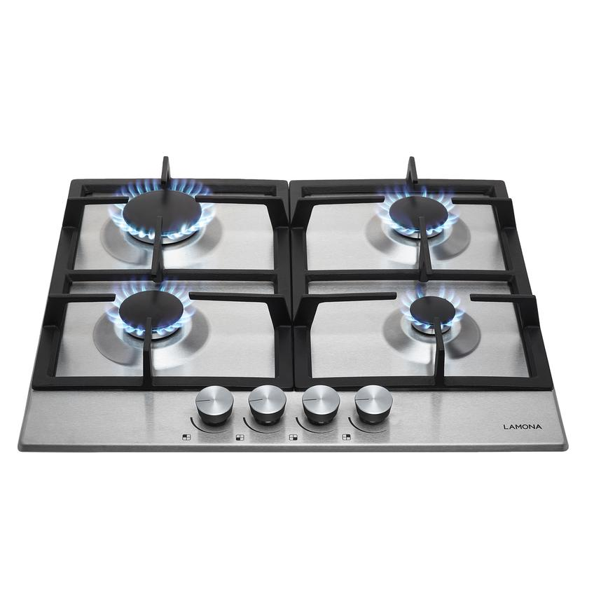 Lamona Professional Gas Hob Stainless Steel Howdens