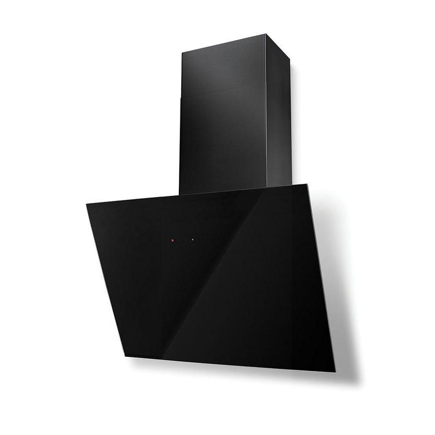 Lamona Angled Extractor Black And Black Glass Howdens