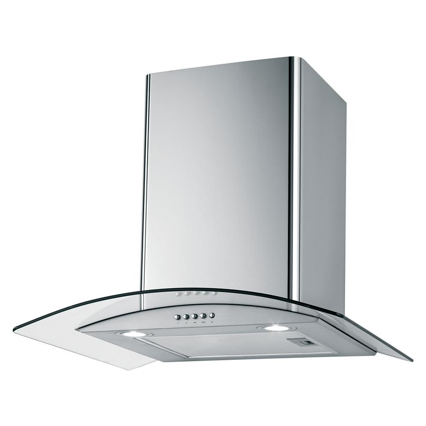 Lamona 60cm Chimney Extractor Stainless Steel And Curved