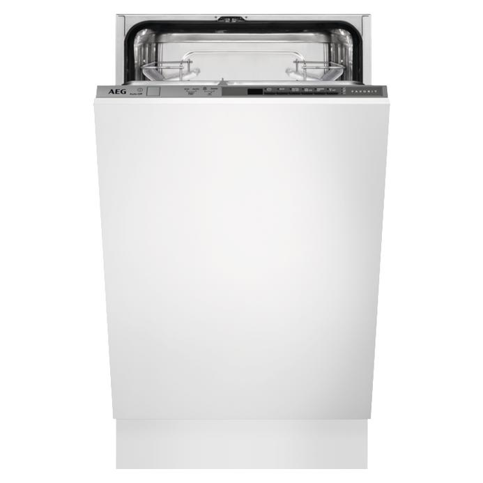 Aeg Slimline Fully Integrated 45cm Dishwasher With Light