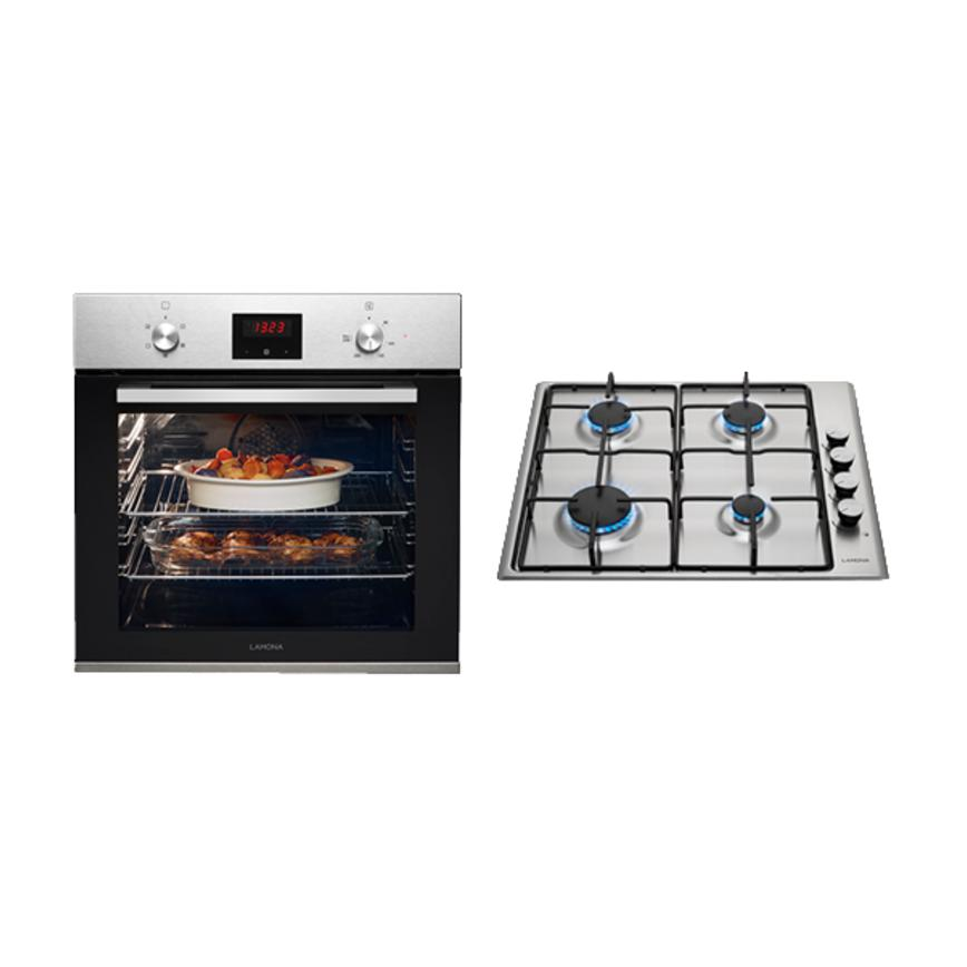 Lamona Stainless Steel Single Fan Oven And Gas Hob Cooking