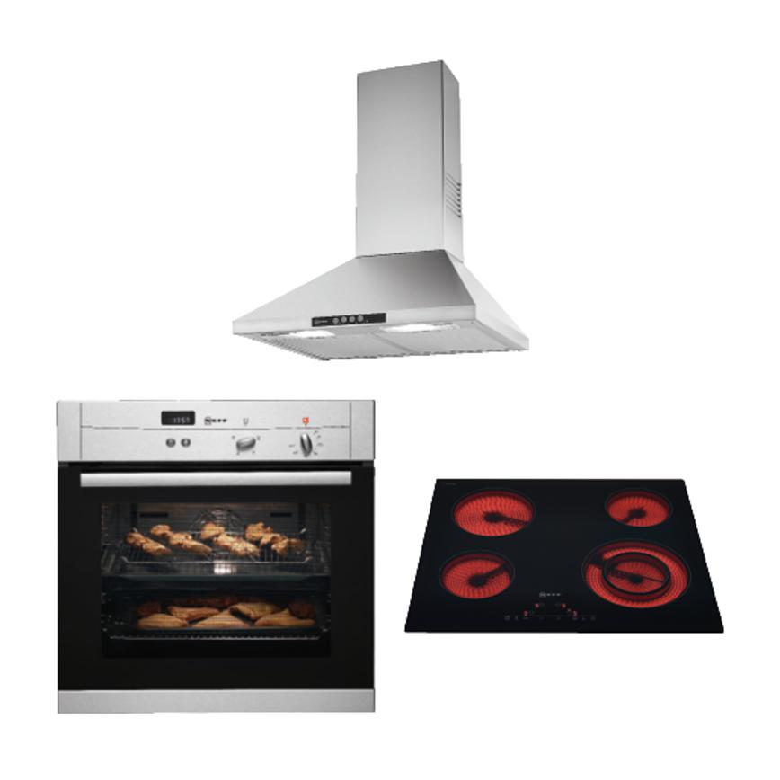 Neff Stainless Steel Single Fan Oven Ceramic Touch Hob
