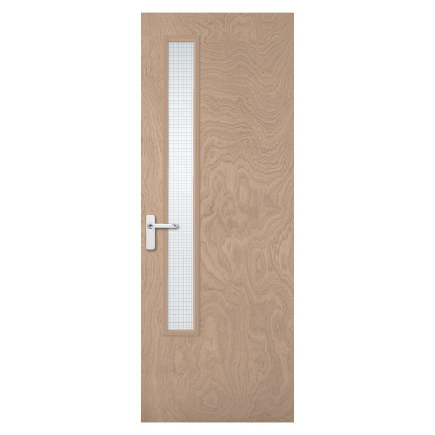 Internal Flush Plywood 20g Wire Glazed Fire Door Fd30