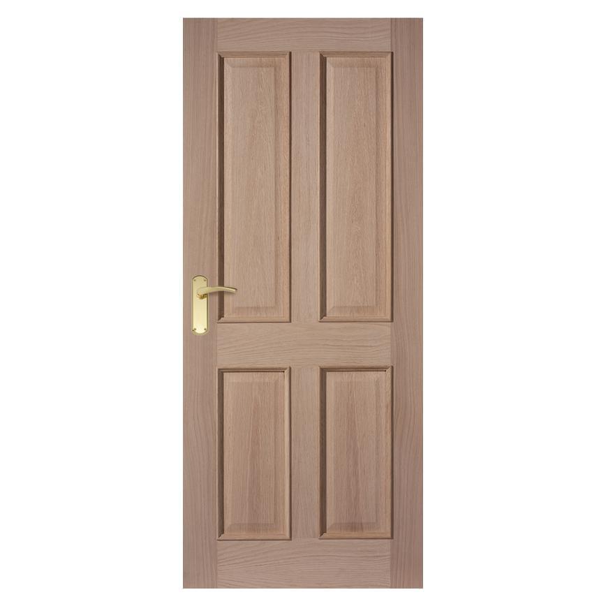 Internal 4 Panel Oak Fire Door Fd30 Howdens