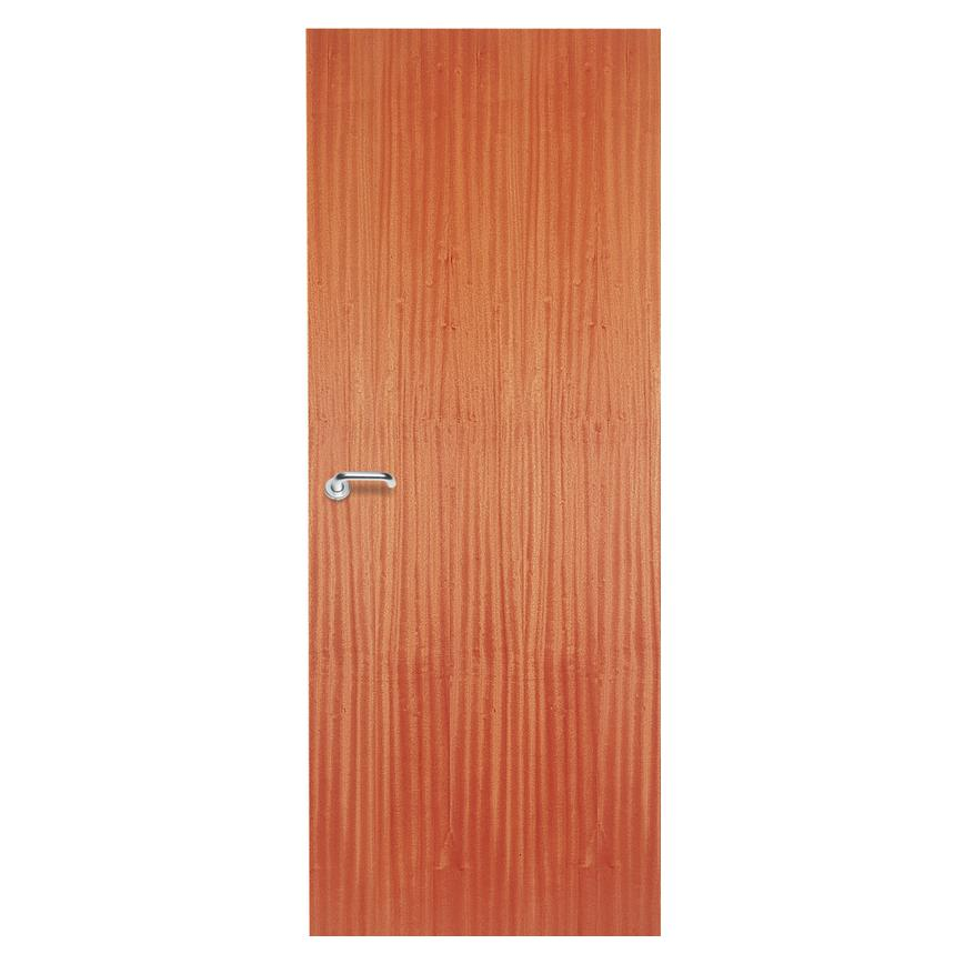Sapele Veneer Lipped Flush Internal Door Howdens
