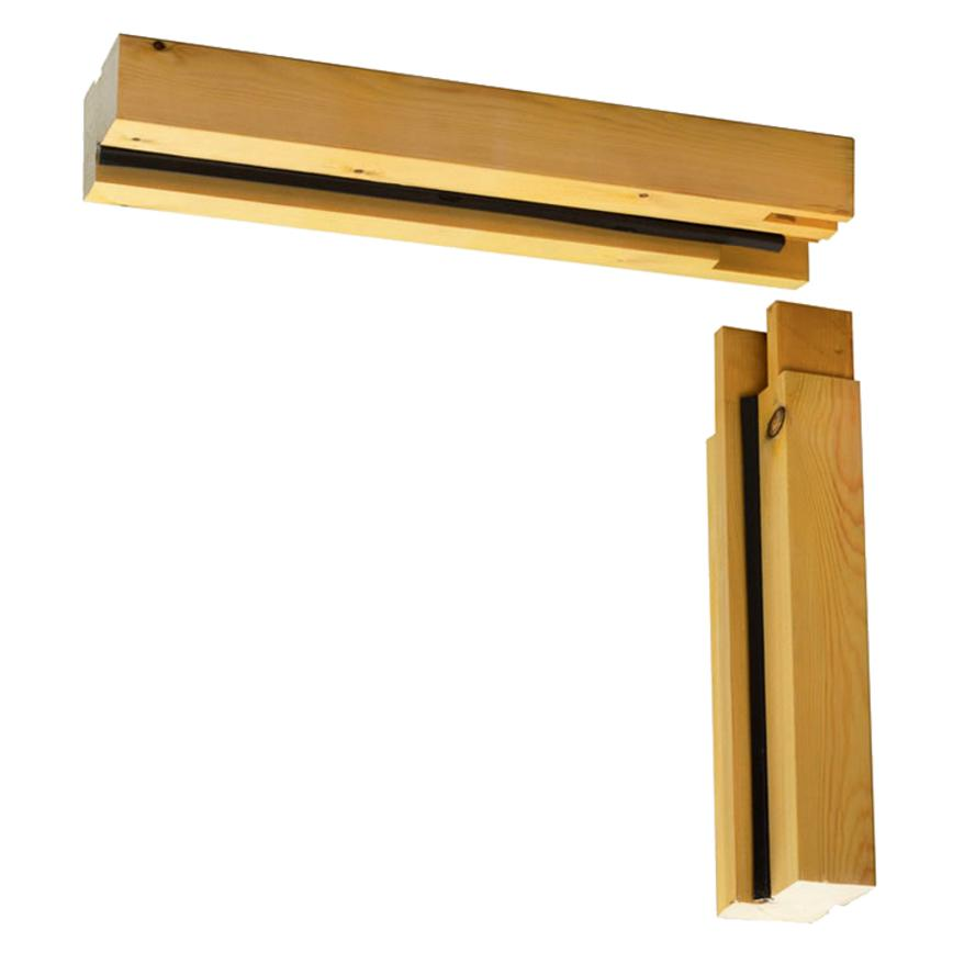 Unassembled Garage Softwood Door Frame Supplied With Loose
